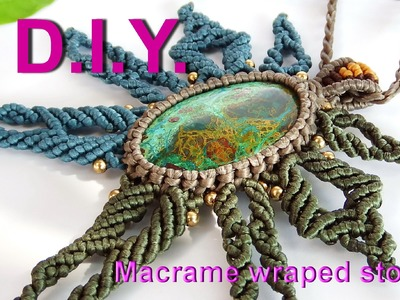 How to make a macrame knot wrapped stones handmade with waxed cord