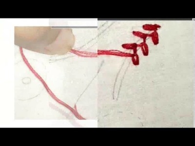 How to make Feather chain stitch