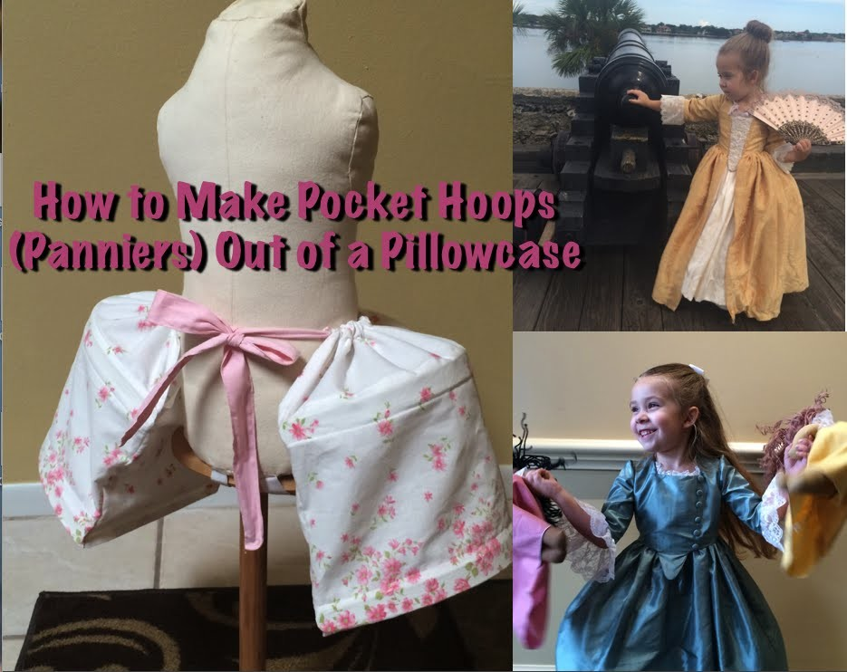 How to Make Pocket Hoops (Panniers) out of a Pillowcase - Cosplay Sewing Tutorial