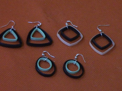 How To Make Quilling Earrings For Beginners