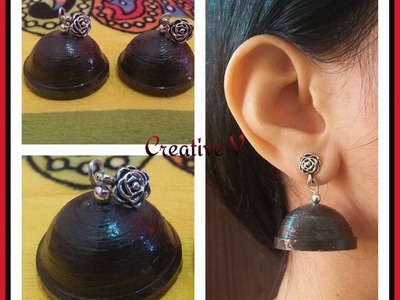 How to Make Quilling Jhumka For Beginners. Tutorial