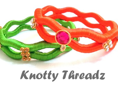 How to make Silk Thread Zig Zag Bangles at Home | Tutorial !!