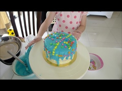 How To Make White Chocolate Ganache Tutorial - Rainbow Dash Blue Color (Little Pony)