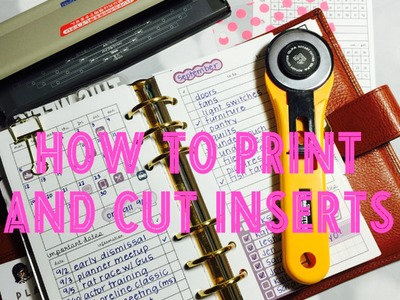 How to print and cut inserts