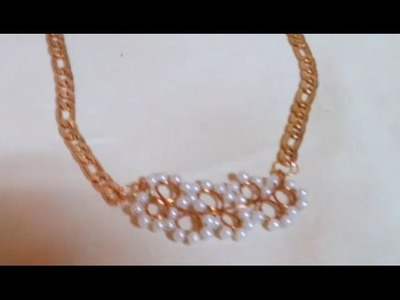 Making Jewelry : How to Make Wire Bead Necklace + Tutorial .