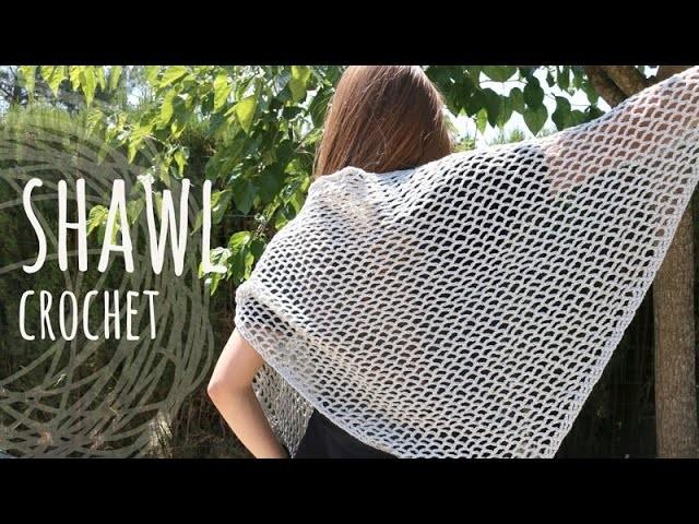 Tutorial Super Easy Lace Stitch Shawl | Crochet