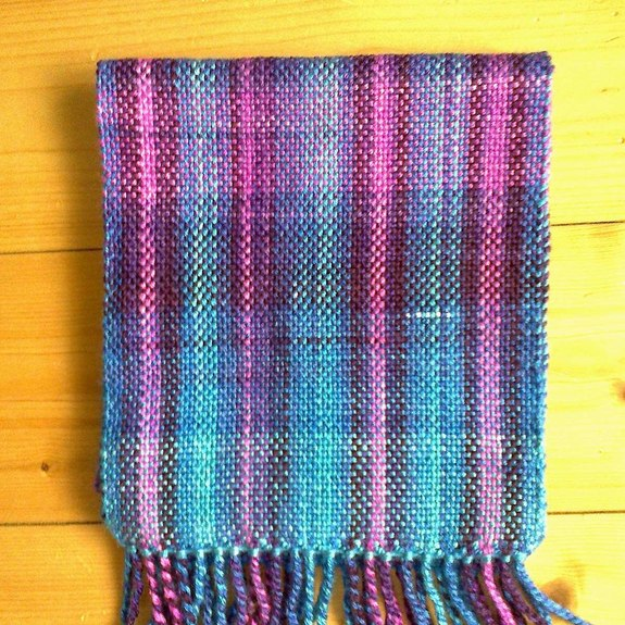 Aurora Borealis Scarf - orion. A hand-woven scarf Dimensions without fringe: 20x175cm Material: 100%