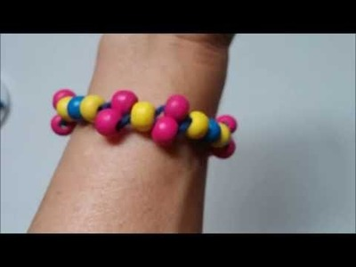 Bracelet for beginners. How to make a colorful bracelet for kids