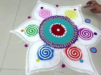 Diwali Special  beautiful rangoli design - created by rangoli design