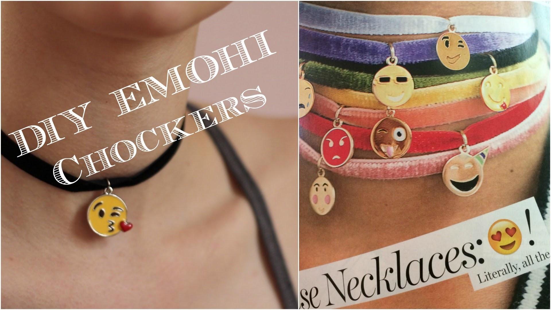 DIY Chocker - How to Make an Emoji Choker - Necklace Tutorial