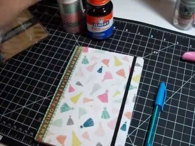 DIY | Covering A Journal with Scrapbook Paper