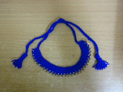 DIY: Crochet necklace. crochet choker