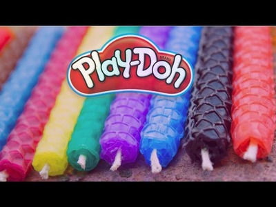 DIY HOW TO MAKE PLAY DOH DECORATE CANDLE