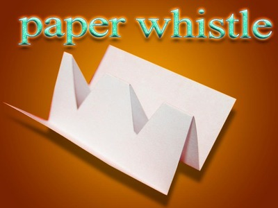DIY origami whistle   Duh Duh Doo Origami   How to make origami whistle