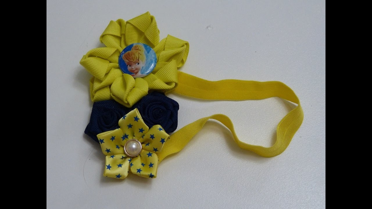 Flores y moños faciles de liston , Video 537,Ribbon flowers how to make