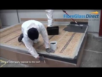 How to apply GRP. Fibreglass Roofing Topcoat