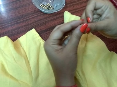 How to attach beads (moti)