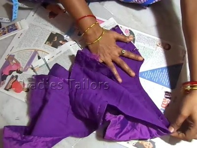 How to Blouse Cross Cutting for beginners Step by Step