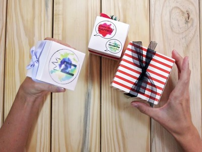 How to create a DIY paper gift box in 5min - Free template download   Birthdays, anniversaries, etc.