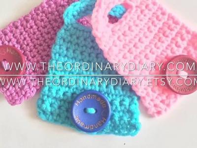 How to crochet headphones cord holder