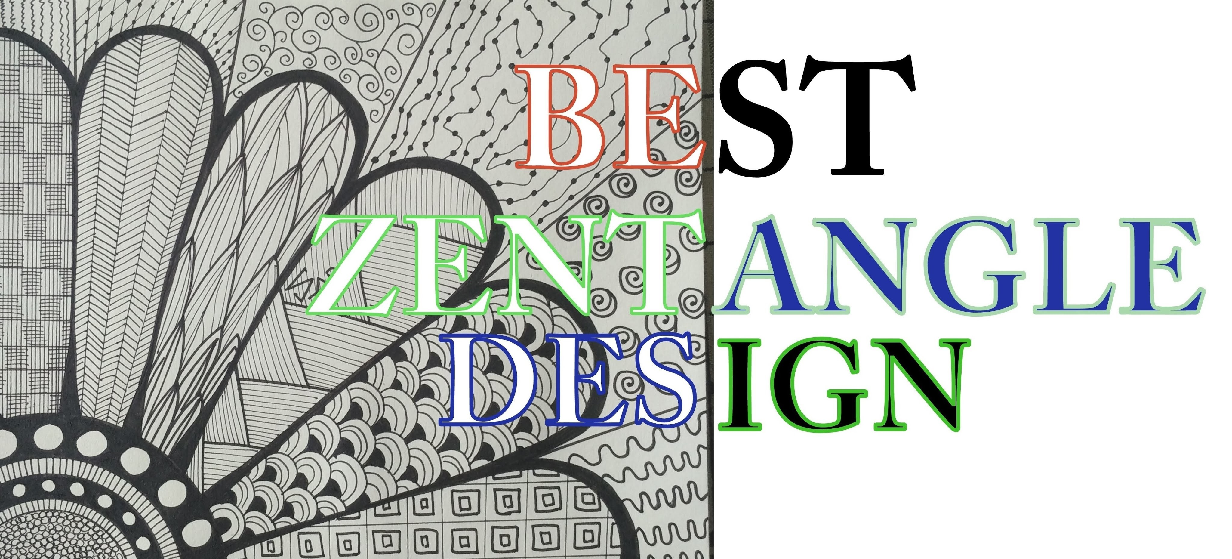 How To Draw Complex Zentangle Art Design For Beginners Easy