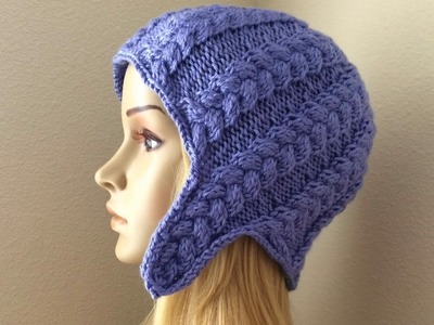 How To Knit A Braided Ear-flap Hat, Lilu's Handmade Corner Video # 110