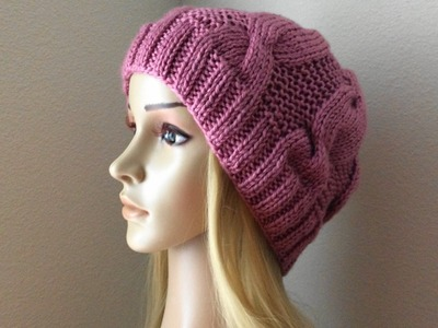 How To Knit A Cable Hat, Lilu's Handmade Corner Video # 111