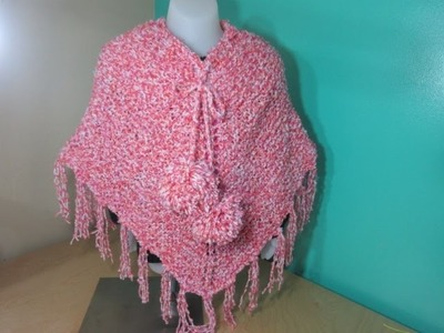 How to knit a girls poncho