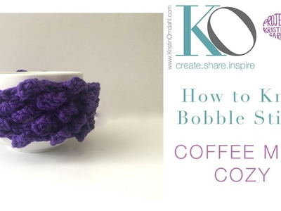 How to Knit Bobble Coffee Cozy