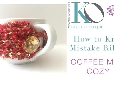 How to Knit Mistake Rib Coffee Mug Cozy Quick Handmade Gift