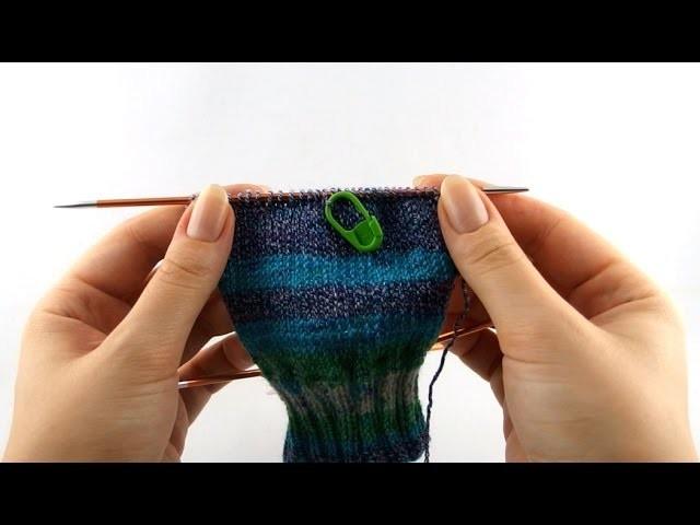 How to Knit Sneaker Socks #2 Heel Flap
