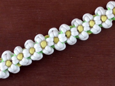 How To Make A Daisy Paracord Bracelet