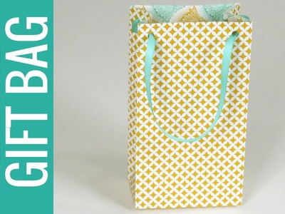 How to Make a Large Size Gift Bag: Gift Bag Punch Board