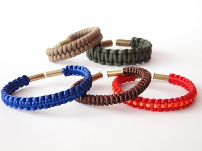 How to Make a Mini Bullet Casing Bracelet- Micro Cord.Macrame Satin Cord. Paracord 550