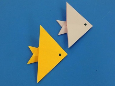 How to make a paper fish   Easy origami fishes for beginners making   DIY-Paper Crafts