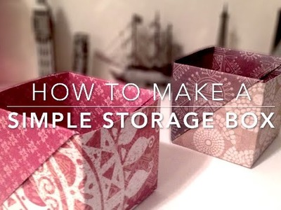 How to make a simple origami storage box