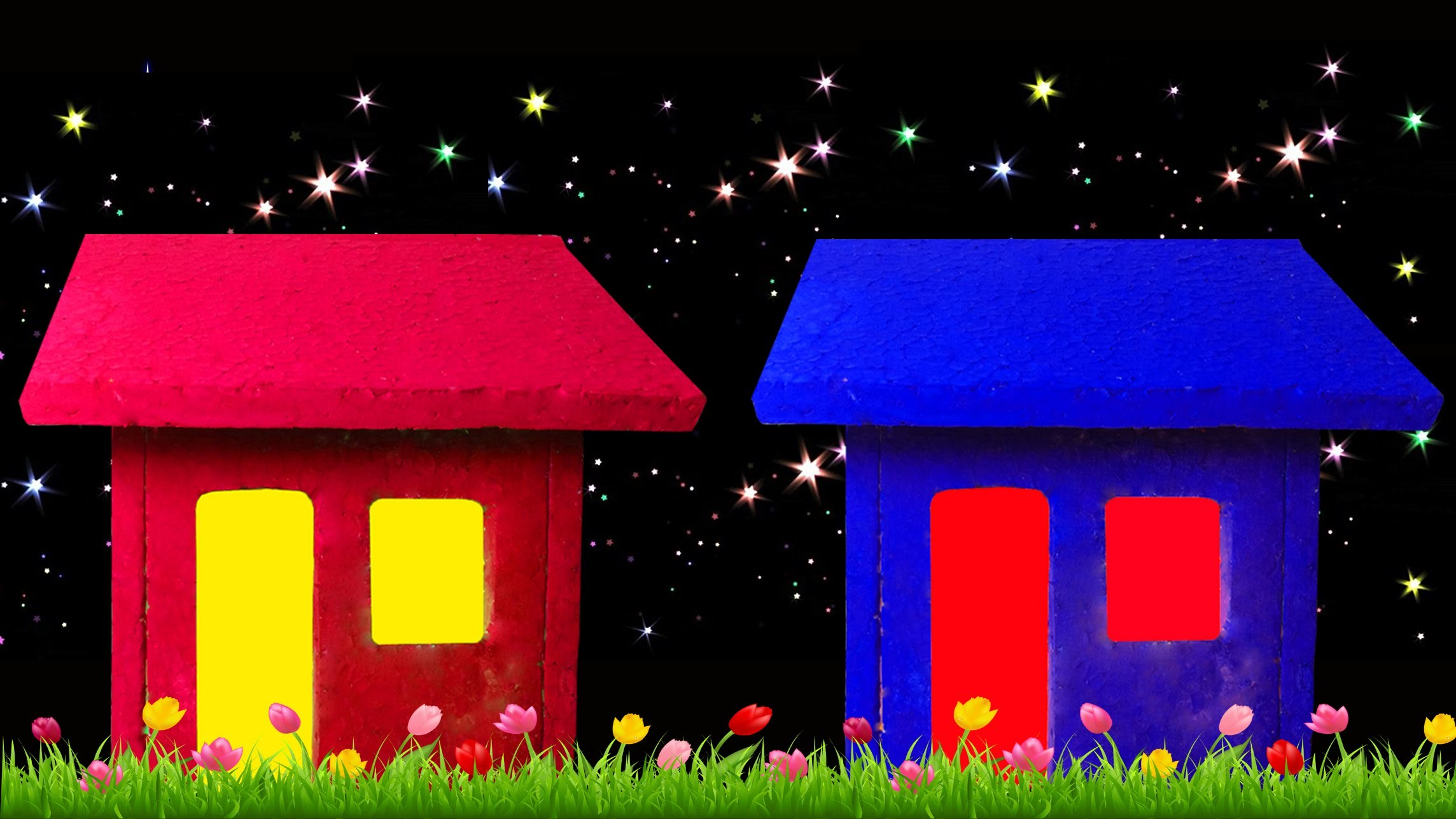 How to Make a Small Thermocol House (Christmas crafts) - HD