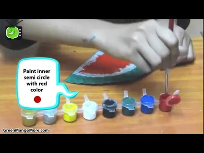 How to make a watermelon from a paper plate  |  Simple Art n Craft