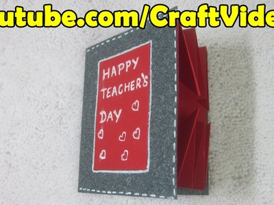 How to make an Explosion Card for Teachers Day