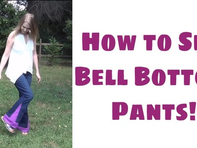 How to Make Bell Bottom Pants - Easy Sewing Tutorial with Leah Day