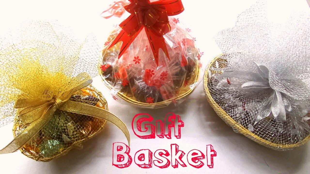 How to make Chocolate Gift Basket. DIY Gift Basket.Easy and Simple Chocolate Gift Basket at Home.