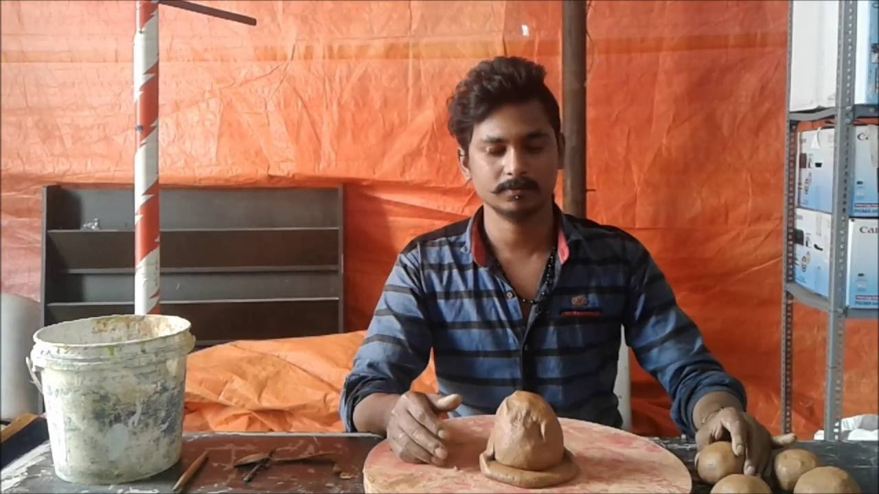 How to make Ganesha from Clay