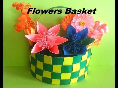 Basket how to make paper flowers basket tutorial diy paper craft how to make paper flowers basket tutorial diy mightylinksfo