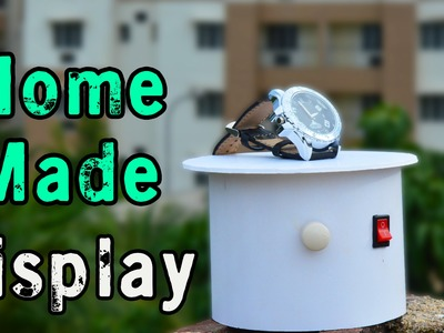 How to make Rotating Display Stand - Adjustable Speed - Easy To Make