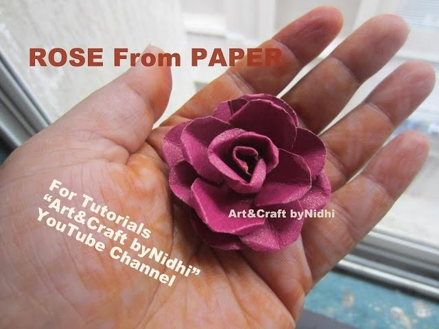 How to make Tiny Rose Flower from Waste Wedding Card- Recycle Craft