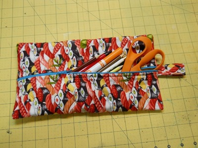 How To Sew A Pencil Pouch Or Makeup Bag
