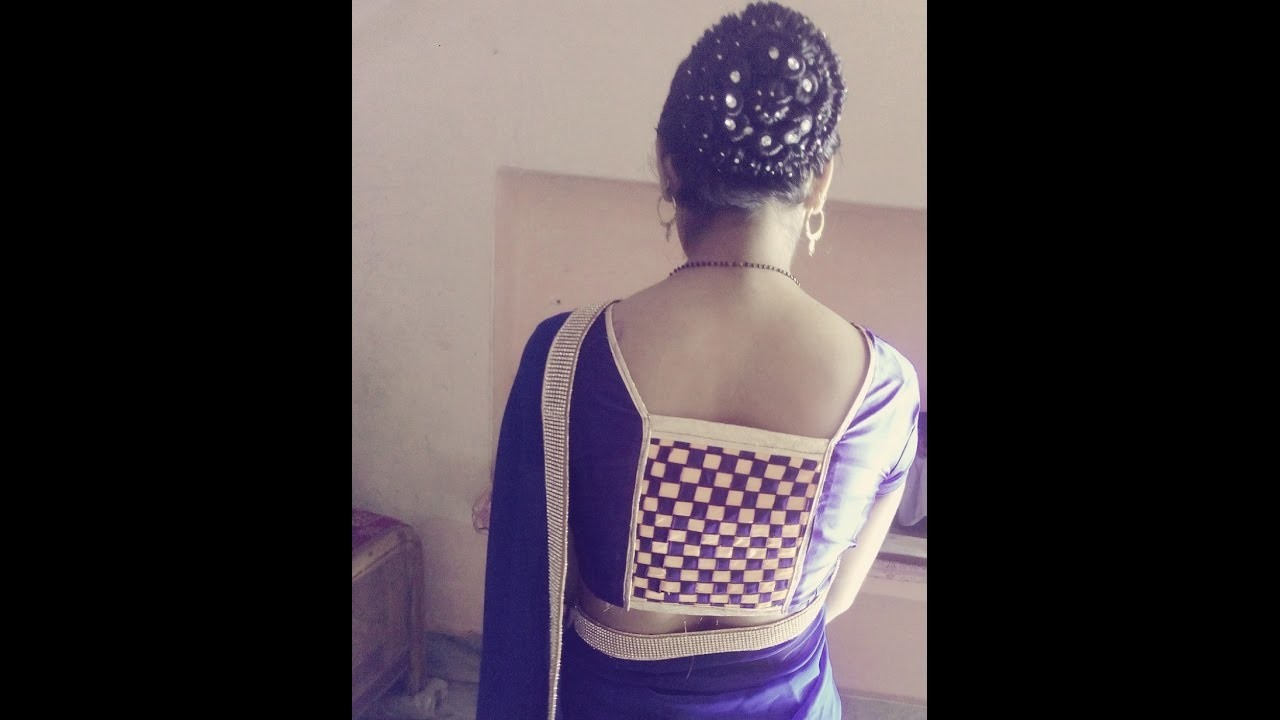 How to sew beautiful designer blouse neck Bollywood fashion latest designs (cross strips)