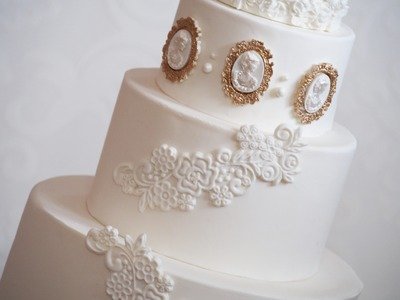How to use a fondant lace mould