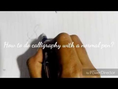 How to write calligraphy WITHOUT a calligraphy pen! | HowTosWithSaniya | Calligraphy Font!