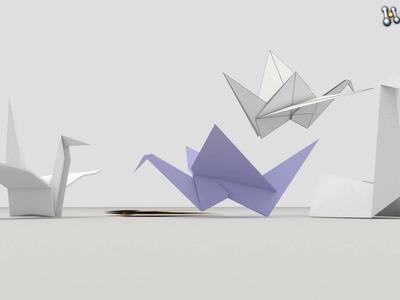 Origami birds 3D Model From CreativeCrash.com
